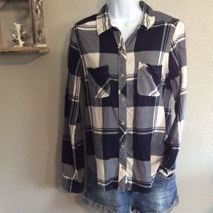 Small Abercrombie & Fitch Blue Plaid Flannel Shirt